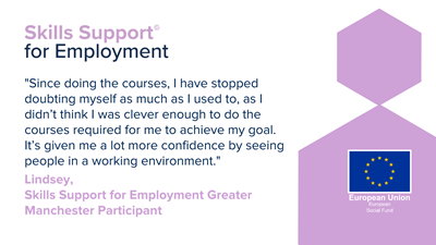 Lindsey's story: From stay at home parent to teaching assistant with Skills Support for Employment
